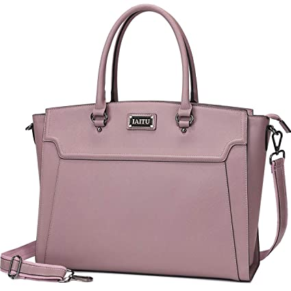 ab946f9fb063 IAITU Laptop Tote Bag,15.6 Inch Women Elegant Laptop Bag Tablet Case  Handbag for Office Travel School (Purple)