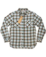 (ファイブブラザー)FIVE BROTHER オンブレチェック マチ付 長袖 ライトネルシャツ 1516032