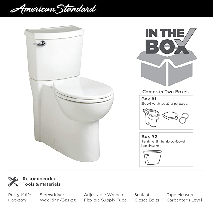 Swell American Standard 2988101 020 Cadet 3 Flowise 2 Piece 1 28 Gpf Single Flush Right Height Round Front Toilet With Concealed Trapway White Inzonedesignstudio Interior Chair Design Inzonedesignstudiocom