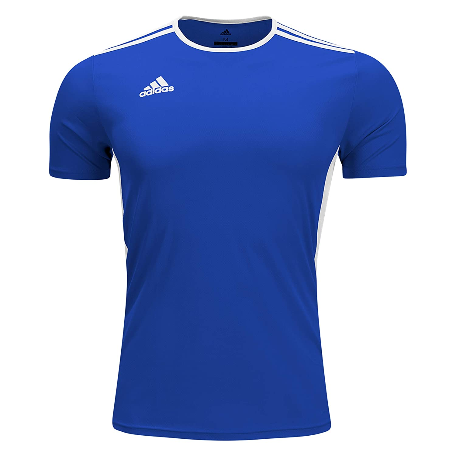 bcf31f42a65c Amazon.com  adidas Boys Estro 12 Soccer Jersey T-Shirt Cobalt White Size  Youth  Shoes