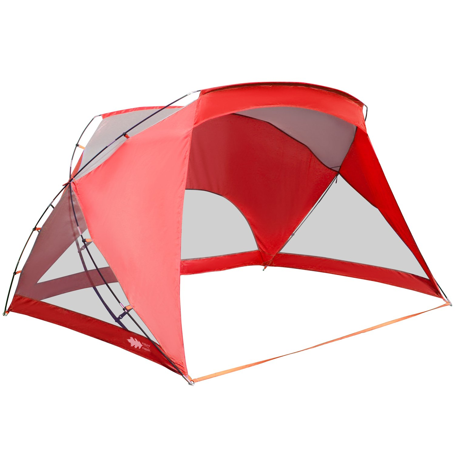 ALPHA CAMP 3 Person Sports/Beach Shelter Easy Up Sun Shade - 9' x 6' Red by ALPHA CAMP