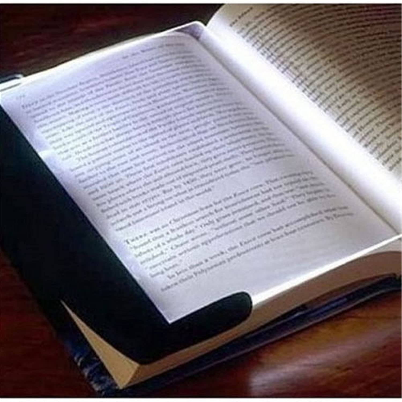 allytech slim page led light book reading lamp night vision