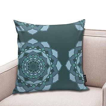Zara-Decor Indigo Mandala Home - Funda de cojín Decorativa ...