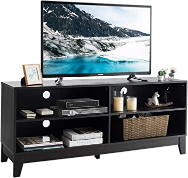 TV Stand with Cabinet Doors for TVs up to 65 Modern Wood ...