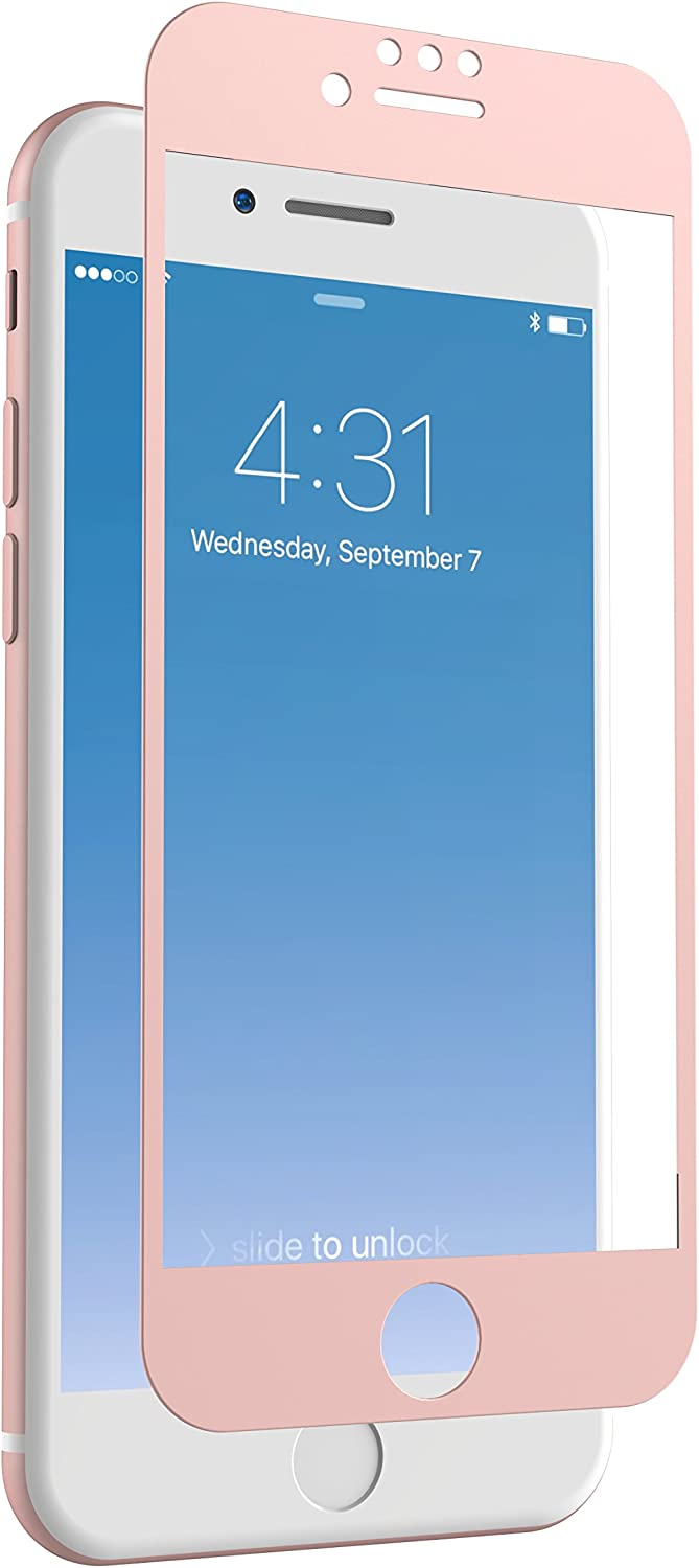 ZAGG InvisibleShield Glass + Luxe Screen Protector for iPhone 7/6s/6 – Extreme Impact and Scratch Protection – Rose Gold (IP7BLS-RG0)