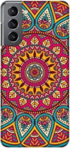 Case Box Silicone Back Cover With Multi Color Printing for Samsung S21 , 2725619179975