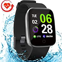 $35 » FITVII E-Pro Smart Watch, Fitness Tracker with Multiple Sport Mode, Heart Rate&Blood…