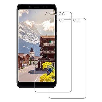 POOPHUNS 2-Unidades Cristal Templado Protector de Pantalla Xiaomi Redmi Note 5, Cristal Vidrio
