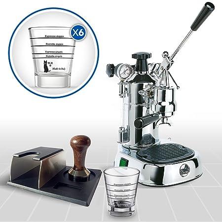 LaGondola Bundle - Máquina Caffe Espresso cromado la Pavoni ...