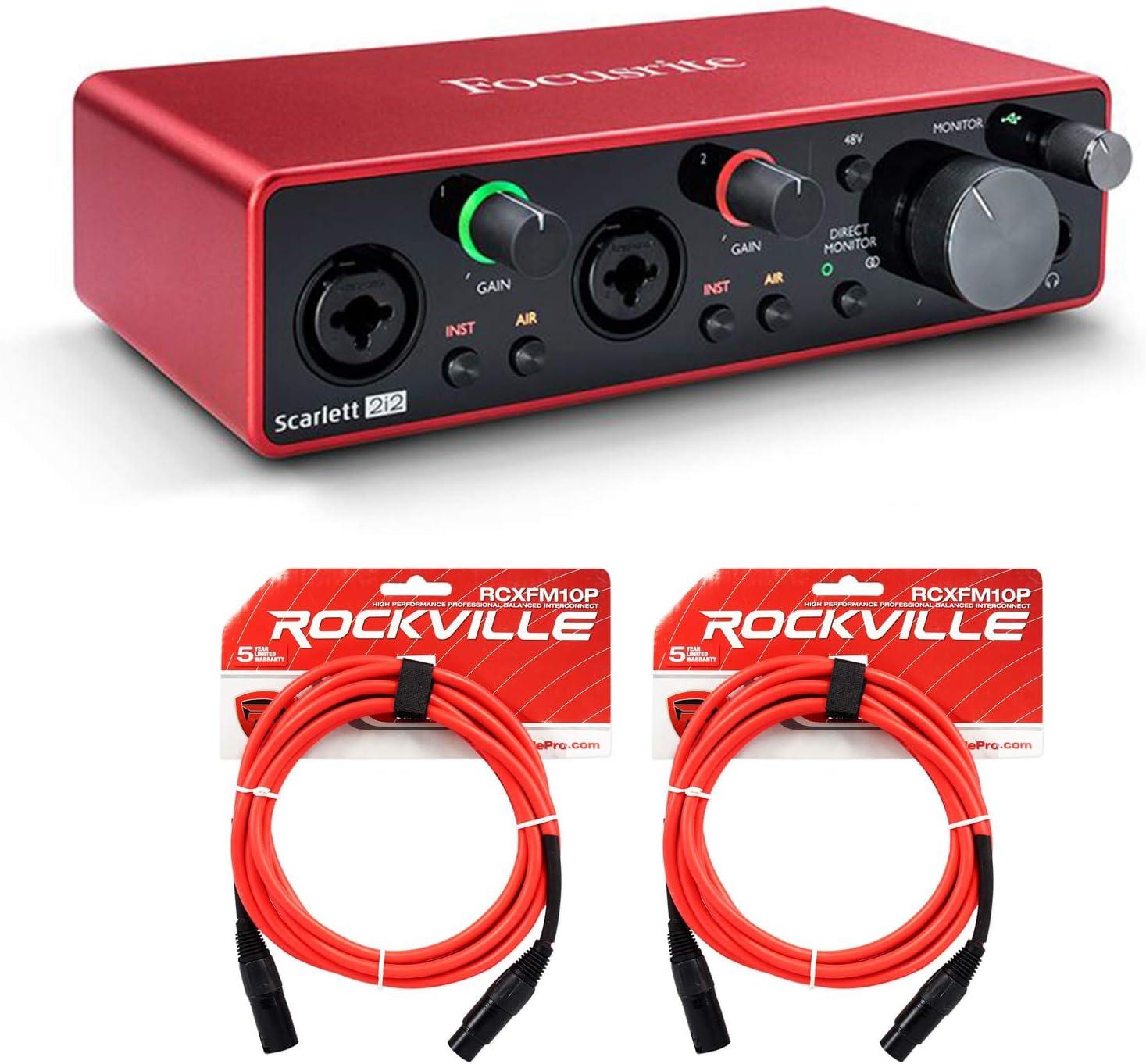 Focusrite Scarlett 2i2 3rd Gen.Schnittstelle AUDIO USB