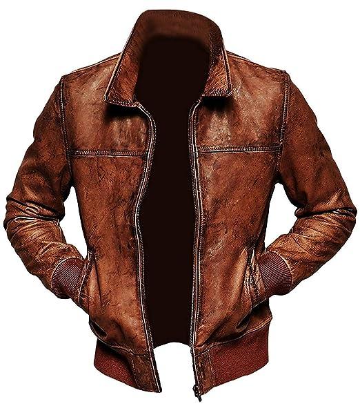 Amazon.com: ZILLIJ_COM_LTD - Chaqueta de piel de cordero ...