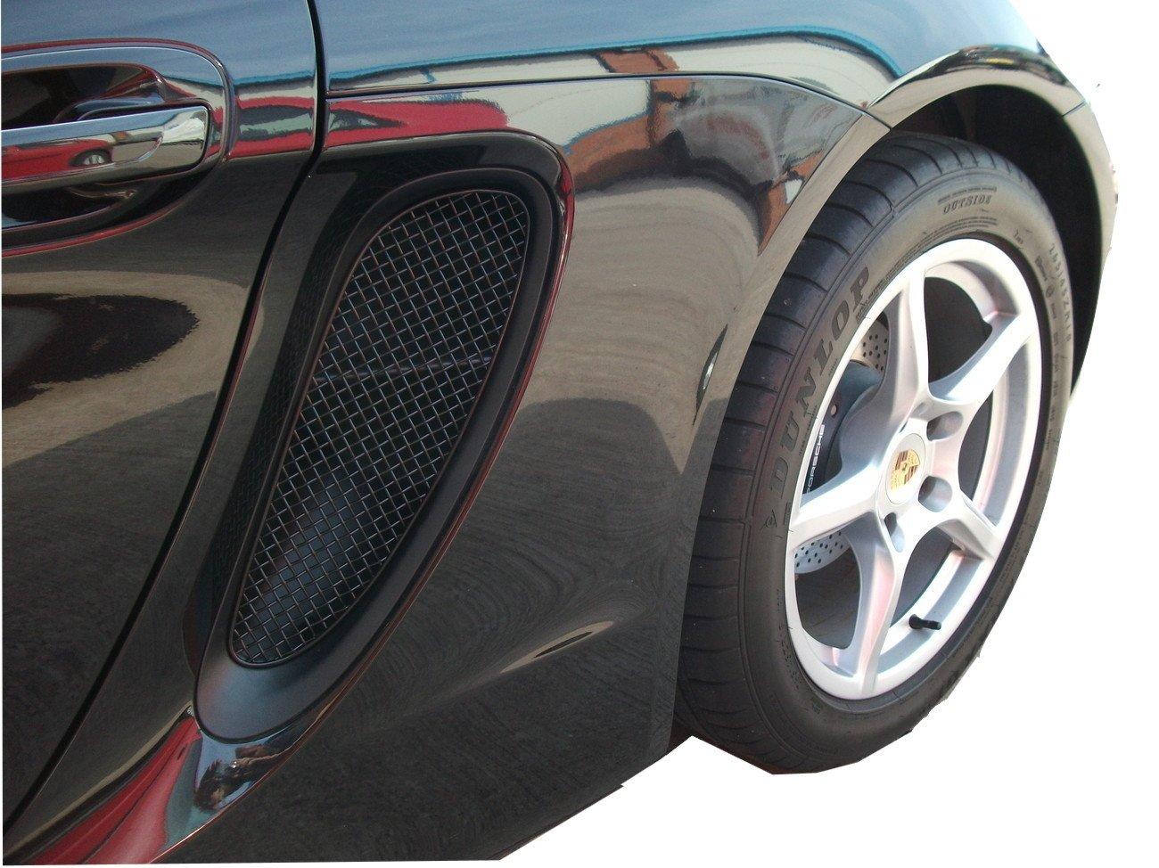 Zunsport Compatible Porsche Cayman/Boxster 981 (All) - Side Vents Grille Set - Black Finish (2012 to 2016) ZPR43212B