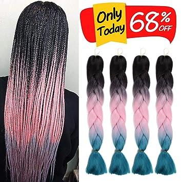 Amazon Com 4pcs Lot Braiding Hair Ombre Kanekalon Jumbo Crochet
