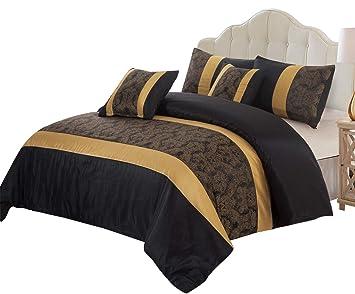 Parure de lit en soie synthétique, motif floral   Ensemble couette