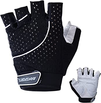 Padded Weight Lifting Gloves Body Building Gym Training Fitness Straps X