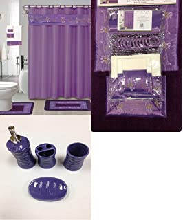 Excellent Roman Bath Store Toronto Thick Bath Vanities New Jersey Rectangular Small Country Bathroom Vanities Bathroom Water Closet Design Youthful Majestic Kitchen And Bath Nj Reviews BrightFrench Bathroom Wall Sign Amazon.com: 17 Piece Bath Accessory Set  Purple Zebra Shower ..