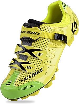 SIDEBIKE Zapatillas de MTB - Zapatillas Unisex Suelas de Carbono ...