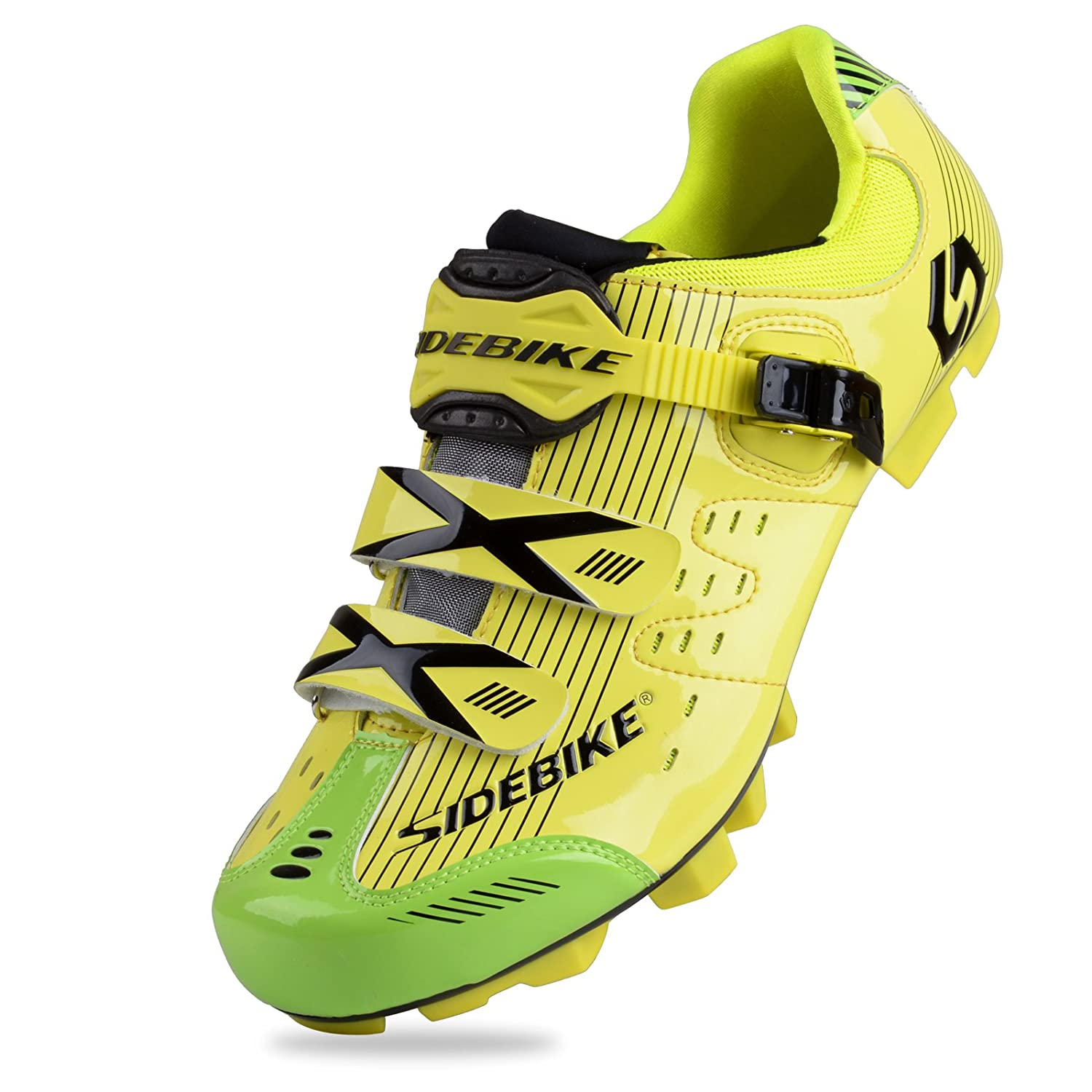 Yellow for MTB Smartodoors Sidebike SD002 Men's All-Around Road Cycling shoes with Carbon Soles