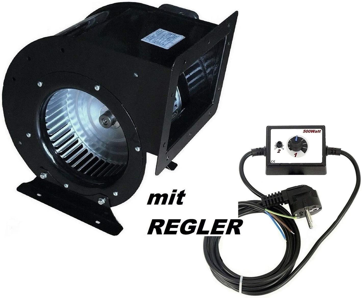 2000m³/h Ventilador industrial con 500W Regulador de Velocidat Ventilación Extractor Ventiladores industriales extractores centrifugo aspiracion centrifuga
