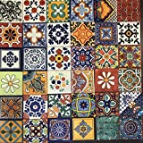 36 MIXED DESIGNS Real Ceramic Talavera Mexican Tile 4x4 ''