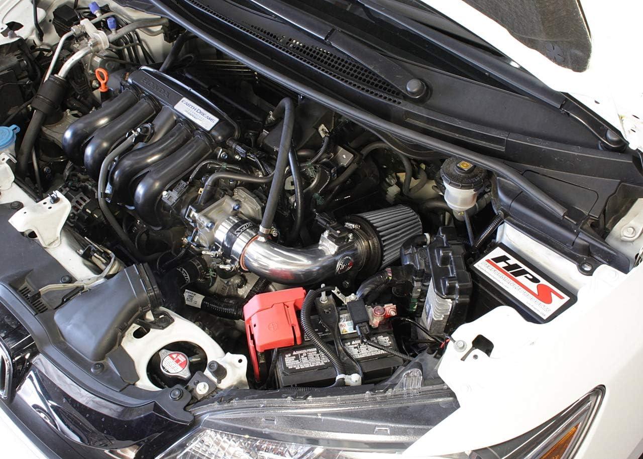 1 Pack HPS Performance 827-568P Polish Shortram Air Intake Kit Heat Shield Cool Ram