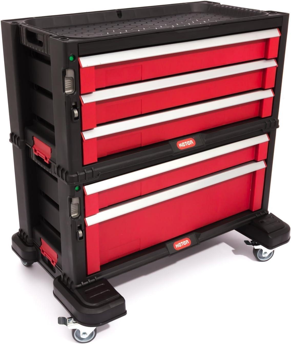 Caja de herramientas para bicicleta 5 cajones maletín de ruedas ...