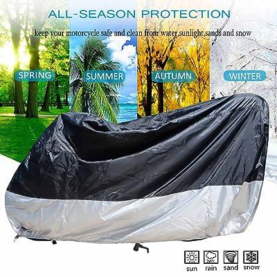 Moto Housse de Protection pour Scooter R/ésistante /à leau Exterieur VTT Couverture Anti Poussi/ère Protection UV de Pluie avec C/âble Antivol et Sac de Rangement