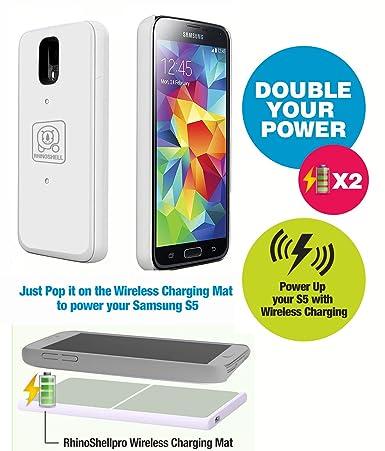 Amazon.com: Samsung Galaxy S5, Inalámbrico, Batería Caso y ...