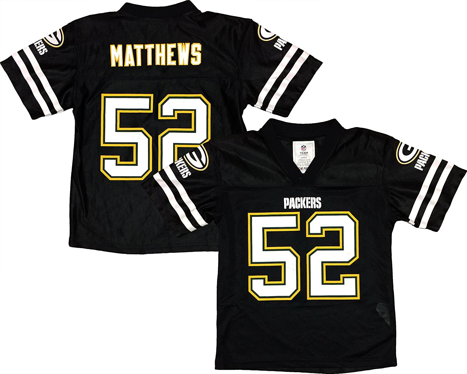 Clay Matthews Green Bay Packers Blackout Player Jersey Youth