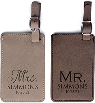 PUppy Dog Leather Luggage Tags Personalized Address Card With Adjustable Strap