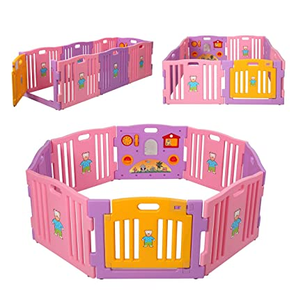 Amazon Com O Hp Baby Playpen Kids 8 Panel Safety Play Center