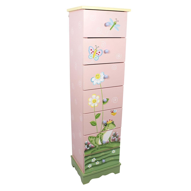 Fantasy Fields by Teamson Dinosaur Kingdom Childrens Bedroom Wooden Storage 5 Drawer Cabinet TD-0070A