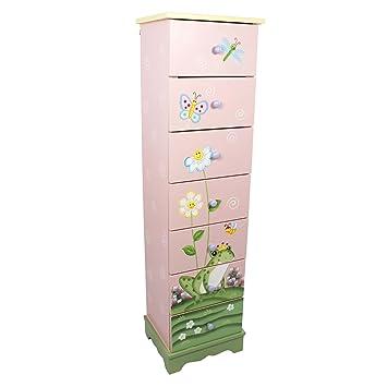 fantasy fields meuble de rangement commode en bois 7 tiroirs chambre enfant bb rose w