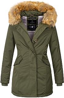Marikoo Damen Winter Jacke Parka Mantel Winterjacke warm gefüttert B362 714349d311