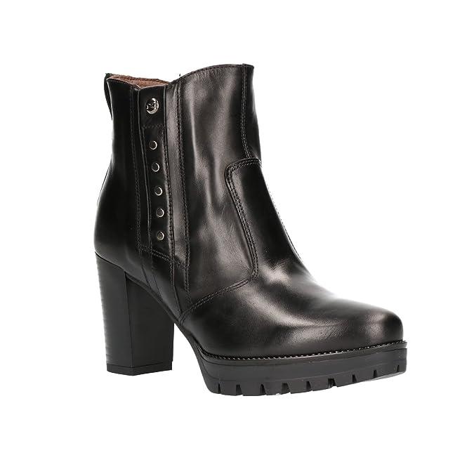 Nero Giardini A807075D - Botas de Cuero para Mujer Negro Negro: Amazon.es: Zapatos y complementos