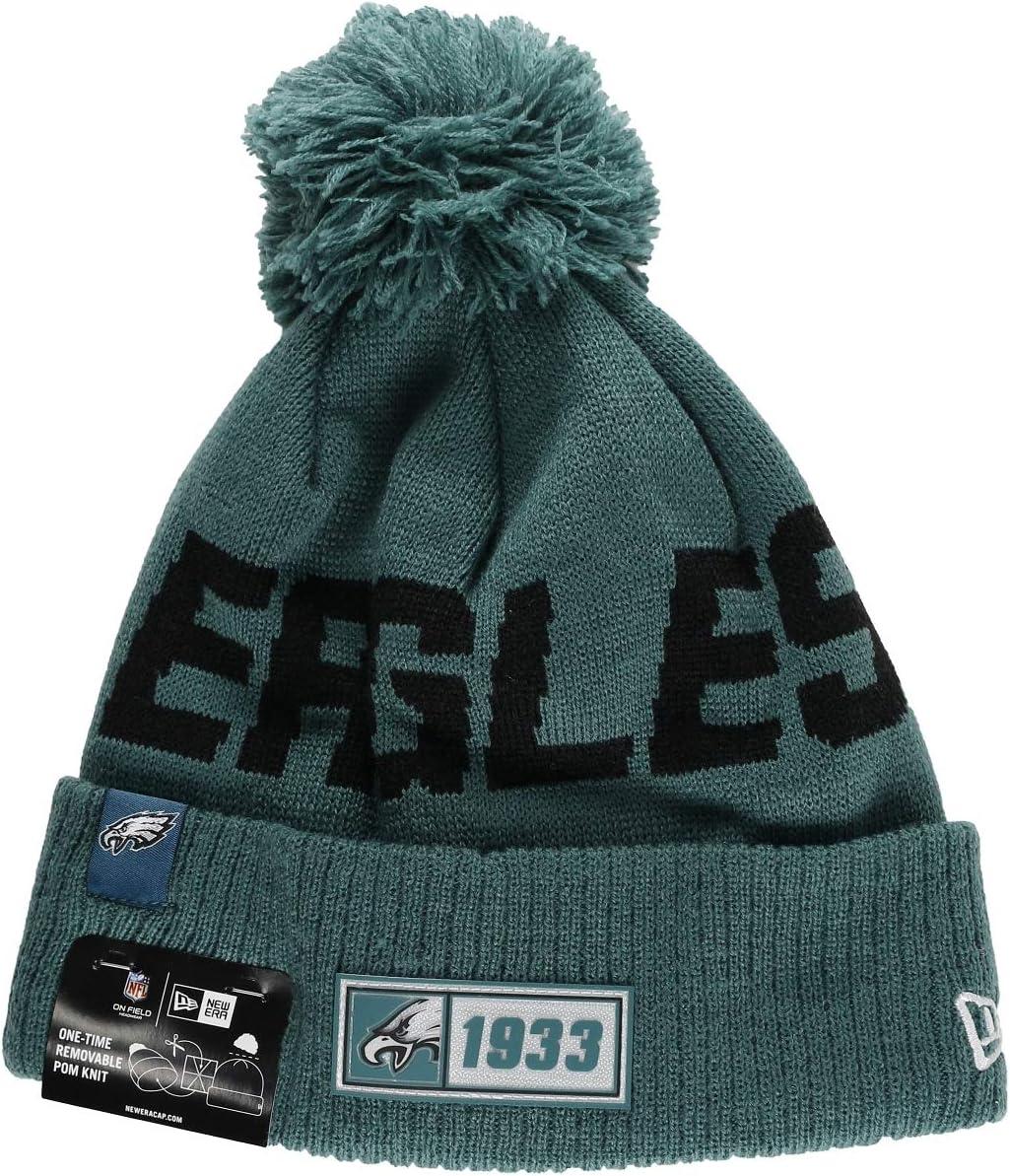 New Era Philadelphia Eagles Beanie Knit NFL 2019 On Field Road 1933
