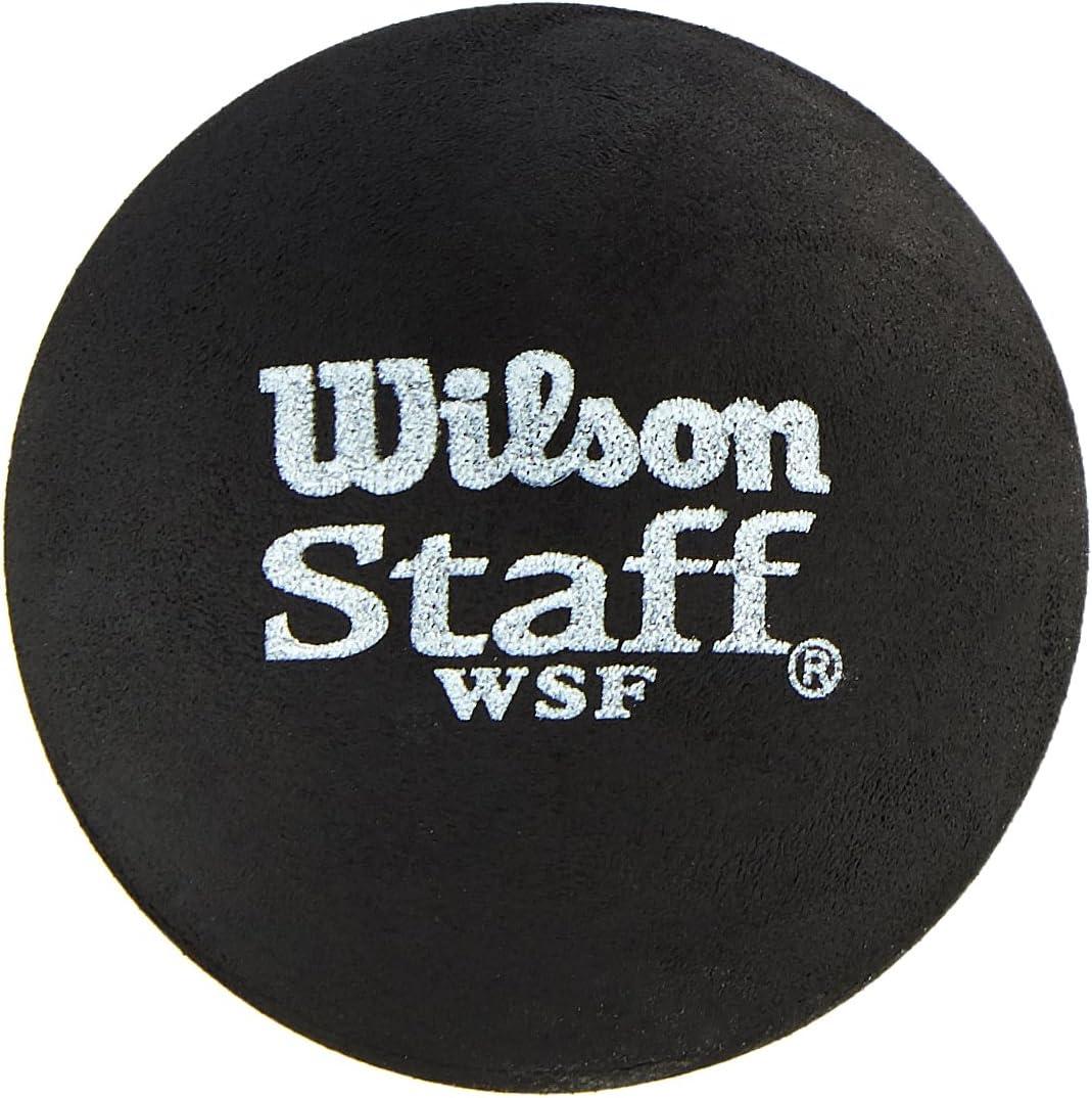 Rouge Mixte Adulte Staff Noir 2 Pi/èces Wilson WRT617700 Balle de Squash Taille Unique