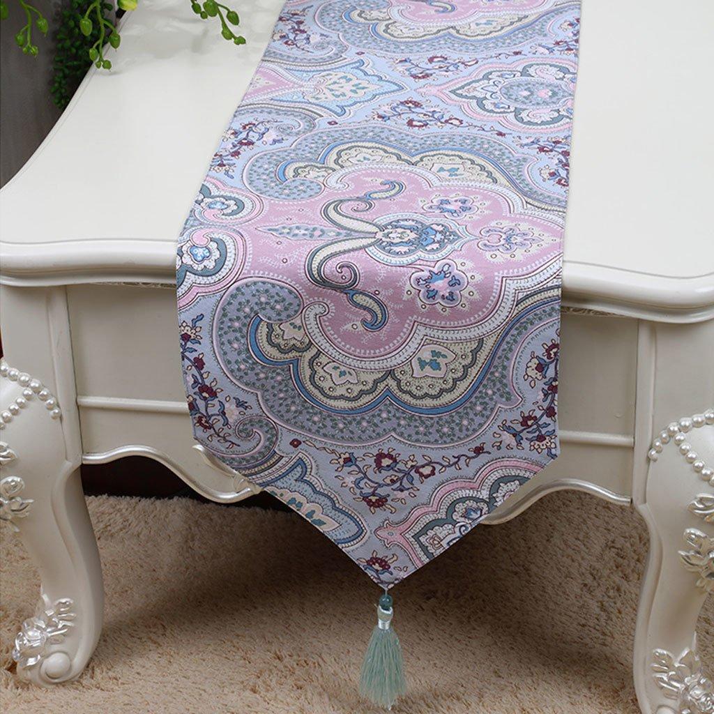 Reducción de precio LINGZHIGAN púrpura patrón de flores de tela corredor de la tabla Moderno simple de moda de la sala de estar cocina restaurante Hotel Home Textiles (Este producto sólo vende corredor de mesa) 33  180cm