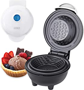 Dash DMWBM100GBWH04 Mini Waffle Maker for Breakfast, Burrito Bowls, Ice Cream and Other Sweet Deserts, Recipe Guide Included, White
