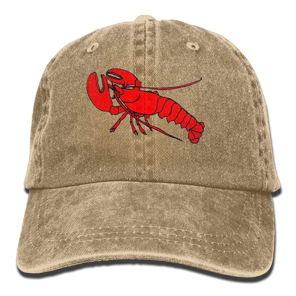 Madoling Lobster Shellfish Seafood Mens Adjustable Baseball Cap