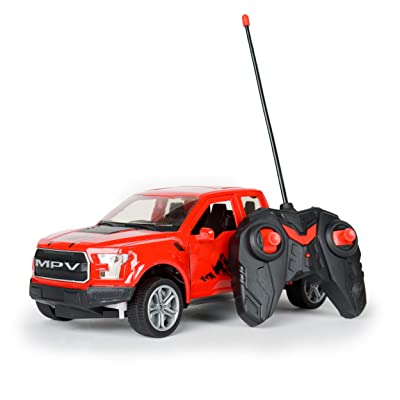Remote Control 4x4 Pick UP Truck RC Kids Toy Car with Open Door and Light: Toys & Games
