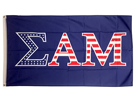 100253d9f5 Amazon.com   Sigma Alpha Mu Fraternity USA Letter Flag Banner Greek ...