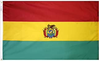 product image for Annin Flagmakers Model 190680 Bolivia Flag 3x5 ft. Nylon SolarGuard Nyl-Glo 100% Made in USA to Official United Nations Design Specifications.