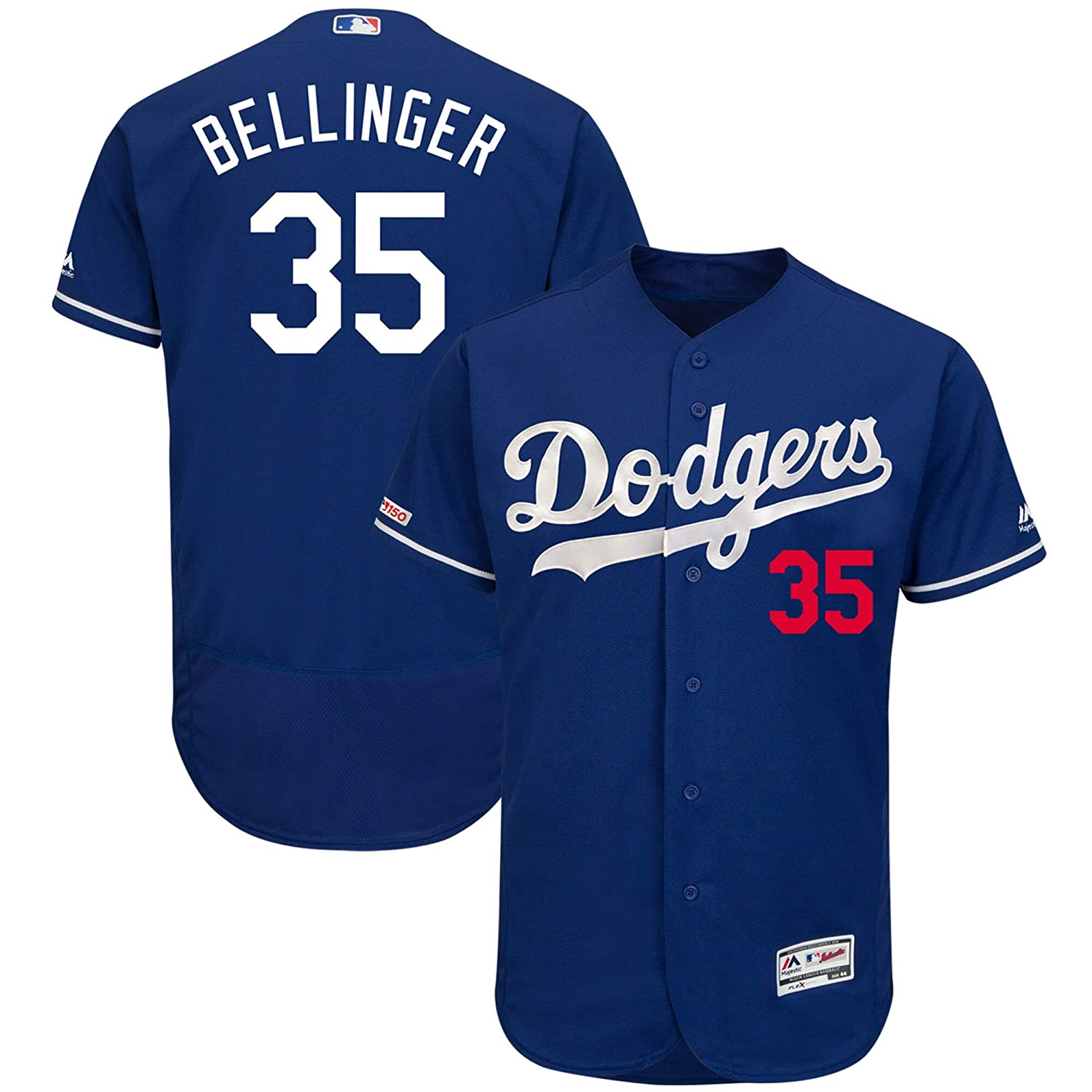 Mens Los Angeles Dodgers #35 Cody Bellinger Collection Baseball Player Jersey Royal