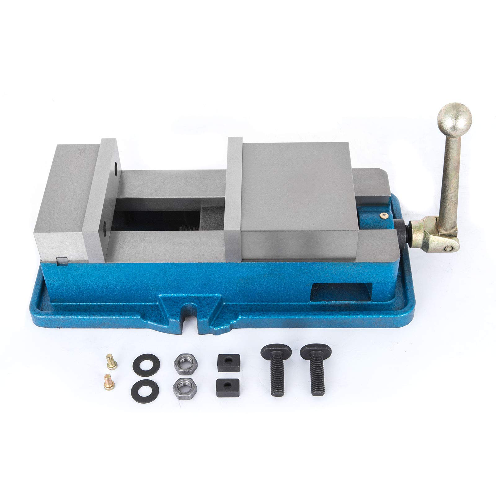 Happybuy 3'' Precision Milling Machine lock Down Vise Milling Table with 3 Inch Jaw Width Vise Accu Lock Vise Bench Clamp Clamping Vice Precision Milling Drilling Machine Vise (3'' Jaw Width)