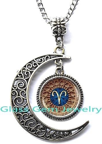 /Collar con colgante de Signos del zodiaco/ /signo del zodiaco/ /aries Collar Aries/