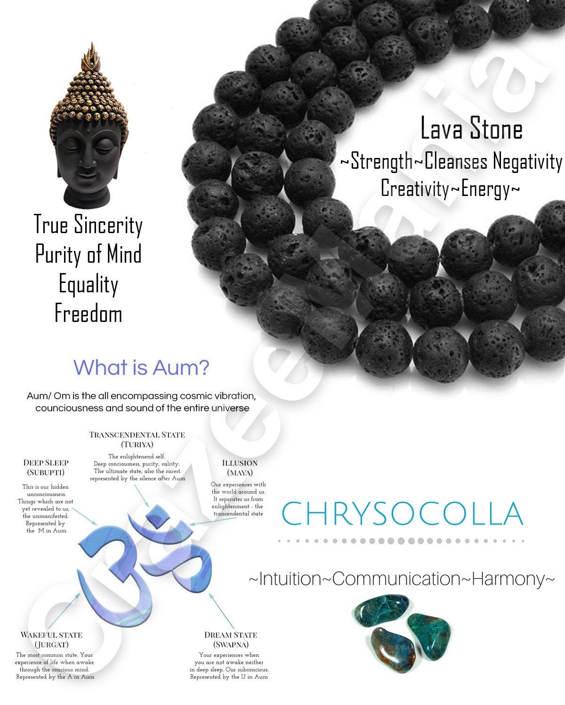 Young & Forever Divine Spiritual Unisex Men, Women Lava Beads Chryscolla Beads Bracelet Healing Energy Stone Reiki Bracelet Gemstone Bracelet by Young & Forever