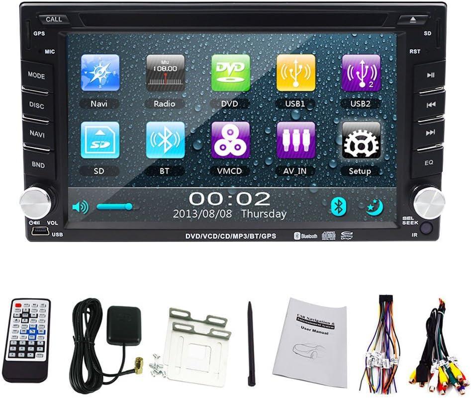 Windows 8 OS radio de coche con HD Digital pantalla táctil de 6.2 pulgadas Doble Din En Dash GPS Navigation Car Stereo coche DVD Apoyo al Jugador GPS USB SD Bluetooth MP3