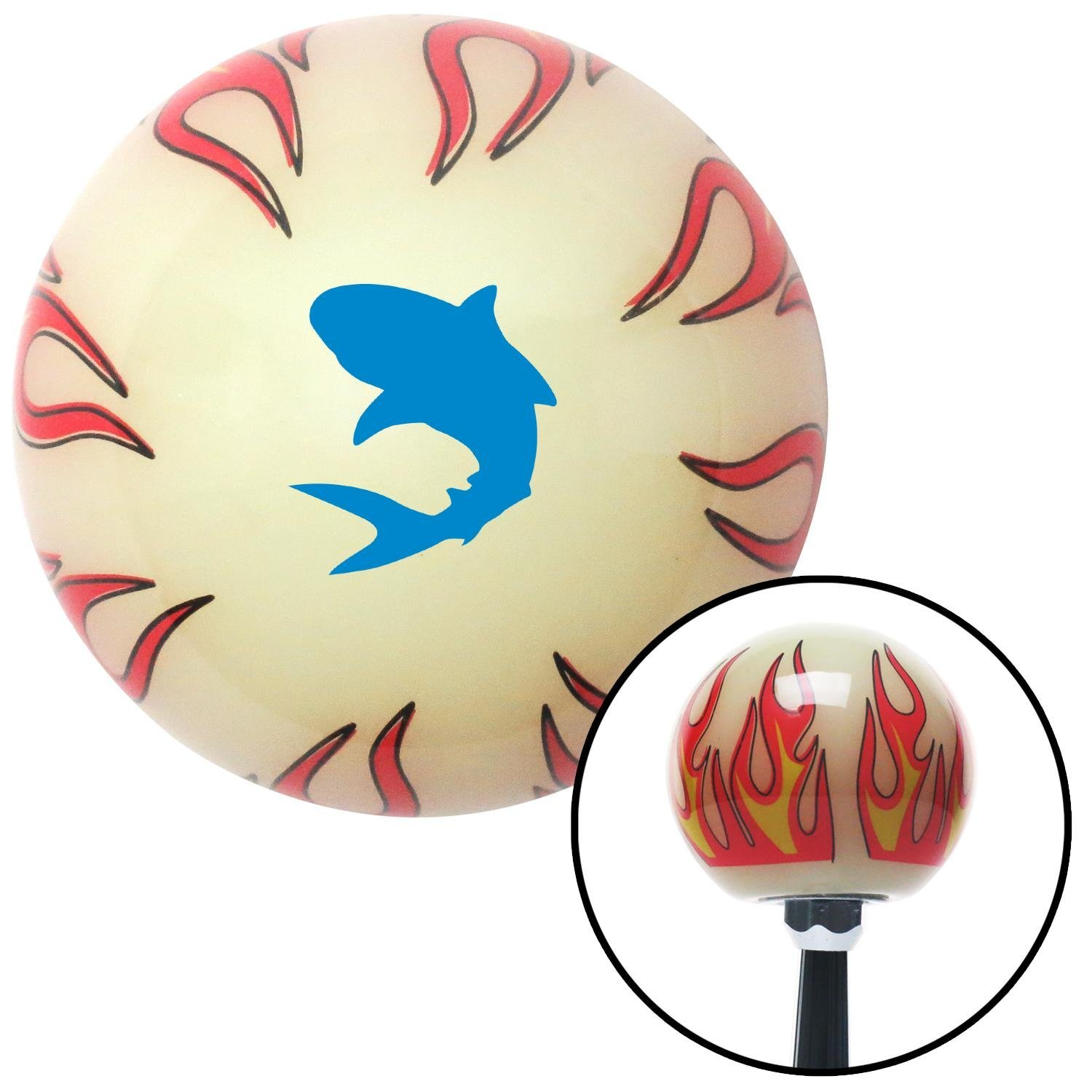 American Shifter 292773 Shift Knob Blue Shark Ivory Flame with M16 x 1.5 Insert