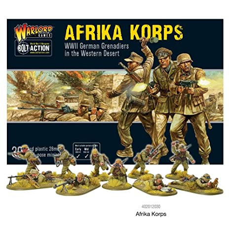 Bolt Action Afrika Korps German Grenadiers Western Desert 1:56 WWII Military Wargaming Plastic Model Kit